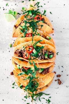 Super simple crispy beef tacos with homemade shells, topped with the best Tex-Mex fixings! From Minneapolis Food Blogger A Simple Pantry, get ready for a flavorful 30-minute meal perfect for any weeknight dinner adventure! | asimplepantry.com Crispy Tacos, Crispy Beef, Quesadillas, Burritos, Enchiladas, Jam Recipes, Dinner Recipes, Dinner Ideas, Healthy Recipes
