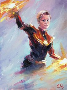 New painting of Captain Marvel with short hair 💇♀️. Oil on canvas inches Marvel Art, Marvel Heroes, Marvel Comics, Original Paintings, Original Art, Art Paintings, Captain Marvel Carol Danvers, Portrait, Figurative Art