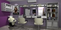 salão de beleza | Projetos de Moveis: Salão de Beleza