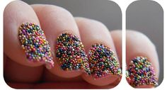 She calls it nail caviar. It's cute but im afraid that its going to fall off Caviar Nails, Blackberry, Sprinkles, Diy, Candy, Fruit, My Style, Creative, Beauty