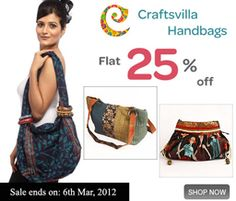 Check out Craftsvilla's ethnic-chic hand crafted bags at flat 25% off!