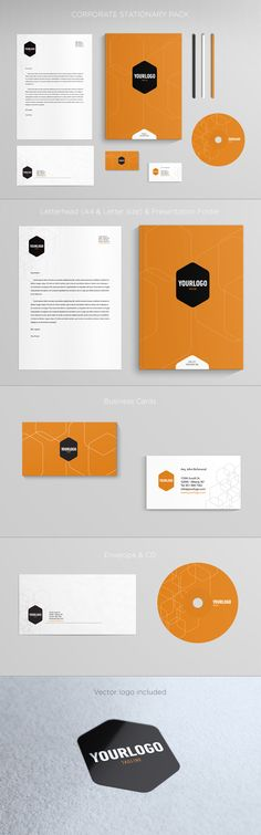 Corporate Stationary. Download here: http://graphicriver.net/item/corporate-stationary/4496303?ref=abradesign #design #stationary