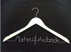 Personalised Hanger – Bridesmaid / Maid of honor / Mother of the bride Brides And Bridesmaids, Maid Of Honor, Mother Of The Bride, Clothes Hanger, Maid Of Honour, Mother Bride, Coat Hanger, Bridesmaid, Clothes Hangers