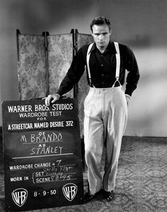 """Three actors win Oscars for """"A Streetcar Named Desire."""" The only loser is Marlon Brando, one of the greatest of all film actors in his most iconic role as Stanley Kowalski. Marlon Brando, Golden Age Of Hollywood, Vintage Hollywood, Classic Hollywood, Hollywood Men, Hollywood Icons, Hollywood Glamour, Hollywood Stars, Tab Hunter"""