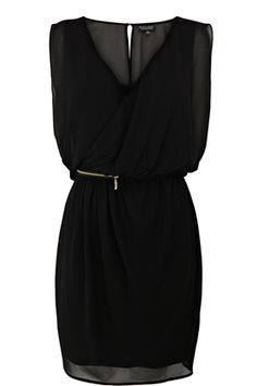 This zip detail wrap dress is constructed out of lined, sheer chiffon...and it's beautiful!