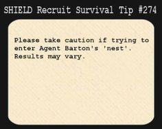 SHIELD Recruit Tip #274