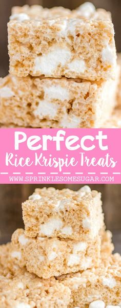 The only recipe you'll ever need for soft, chewy and delicious rice krispie treats every single time!