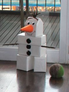 Cute game idea for a Frozen birthday party, Olaf bowling