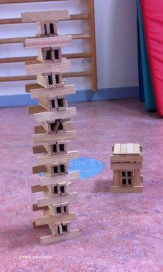immeuble en kapla Legos, Plank, Montessori, Children, Kids, Creations, Infants, Toys, Wood