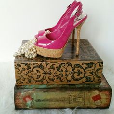 """SALE Sexy Pink Stiletto Heels Awesome Pink Stiletto 5"""" Heels with cork heel Shoes Heels"""