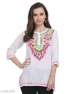 Tops & Tunics SAAKAA Women's Cotton Off White Embroidery Top Fabric: Cotton Pattern: Embroidered Multipack: 1 Sizes: S XL XS L M XXL Country of Origin: India Sizes Available: XS, S, M, L, XL, XXL   Catalog Rating: ★4.2 (847)  Catalog Name: Stylish Fabulous Women Tops & Tunics CatalogID_1777086 C79-SC1020 Code: 003-9961245-207