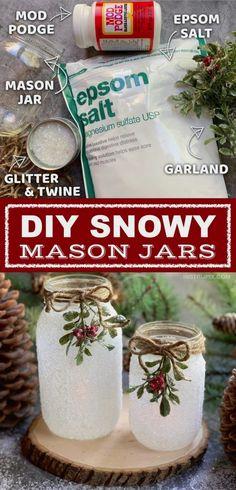 A fun, easy and beautiful holiday craft project for adults. #easymasonjar #homedecor #diymasonjar