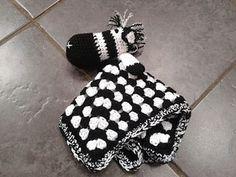 Ziggy the Zebra Lovey / Comforter pattern by Laura Tegg ~ free pattern ᛡ