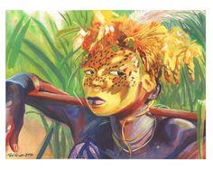 African boy by Roni Kane