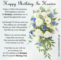 70 Best Happy Birthday In Heaven images in 2019 | Birthday wishes