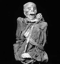 the chachapoya mummies, museum of the nation, lima, peru.