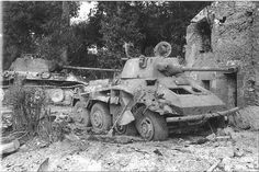Panther and a SdKfz 234/2 Puma (from Pz.Aufkl-Lehr-Abt.130) destroyed between Canisy and Le-Mesnil Amey, (Sainto-Lô/ Cobra sector) on 26 july 1944,Normandy.