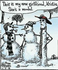 Funny cartoons - even snowmen have dieting and body issues, it would seem...