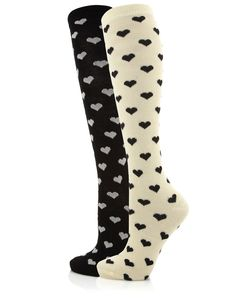 €8.90 2 Pack Heart Knee High Socks
