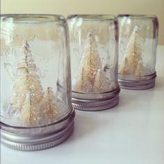 Frosty White Trees Christmas Decoration - Small. $12.00, via Etsy.