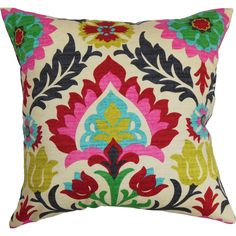 Features:  -Tahsis collection.  -Hidden zipper closure.  -Made in the USA.  Product Type: -Throw pillow.  Color: -Multi.  Style: -Asian Inspired.  Shape: -Square.  Cover Material: -100% Cotton.  Fill