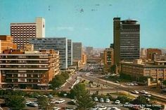 Jan Smuts Avenue looking south, Lawsons building on right. Johannesburg City, Water Sources, Afrikaans, The Good Old Days, Cityscapes, South Africa, Landscape Photography, 19th Century, Photos