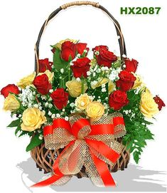 Send Flowers to Ranchi We have beautiful flowers & Gifts which are sending to your friends, relatives and family members. you can also send soft toys, delicious cakes, chocolates Send Flowers to Delhi & All Over World through Online Florist Delhi. Online Florist, Local Florist, Red And Yellow Roses, Red Roses, Orange Roses, Good Morning Flowers Gif, Morning Gif, Rose Basket, Flower Basket