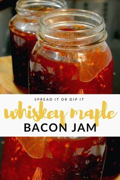 whiskey maple bacon jam recipe whiskey aged maple whiskey whiskey barrel aged maple syrup bacon maple bacon jam whiskey bacon smokey savory recipe jam recipe using whiskey maple syrup cooking with maple syrup recipes for whiskey syrup Maple Bacon Jam Recipe, Maple Syrup Recipes, Candied Bacon, Bacon Recipes, Jam Recipes, Jelly Recipes, Canning Recipes, Recipies, Bacon Salad