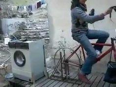 Woman-Powered Washing Machine