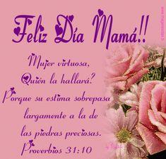 mensaje-por-el-dia-de-la-madre-simple-400x384.gif 400×384 píxeles Happy Birthday Messages, Birthday Images, Happy Valentines Day, Happy Mothers Day Images, Mothers Day Cards, Spanish Mothers Day, Mommy Quotes, Vector Flowers, Mom Day