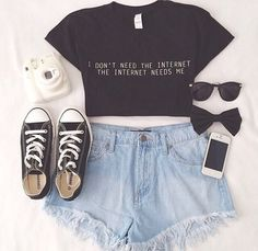 cute crop tops with high waisted shorts - Google Search