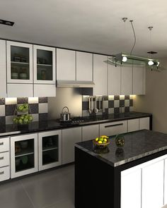 interior dapur kitchen set minimalis - Eksterior, Interior, Furnitur ...