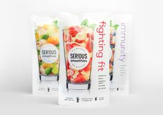 Curious Design - SER!OUS Smoothies PACKAGING DESIGN World Packaging Design Society│Home of Packaging Design│Branding│Brand Design│CPG Design│FMCG Design