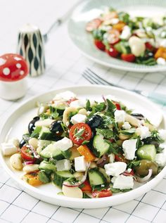 Try our Marinated Butterbean Greek Salad, recipe in Good + Simple. #vegetarian