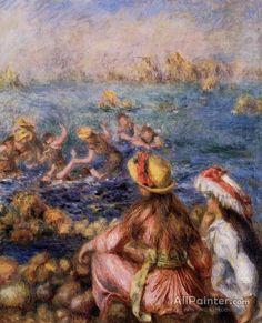 Pierre Auguste Renoir Bathers oil painting reproductions for sale