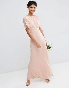 Image 1 ofASOS WEDDING Soft Maxi Dress
