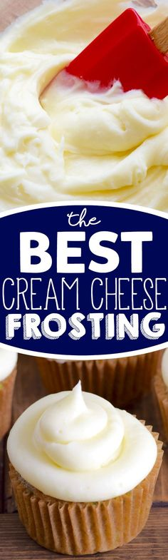 Throw out all your other cream cheese frosting recipes because now you have The BEST Cream Cheese Frosting recipe!: