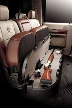 COOL GUN PRODUCTS - AMAZING SUV BACKSEAT UNDER SEAT SHOTGUN & RIFLE STORAGE!