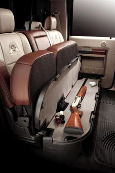 COOL GUN PRODUCTS - AMAZING SUV BACKSEAT UNDER SEAT SHOTGUN & RIFLE STORAGE!