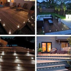 These LED Deck Lights are a very environmentally friendly way of lighting and enhancing your garden, buildings, indoor floors, stairs, corridors. It also used in commercial places like shopping mal Cool Deck, Diy Deck, Diy Patio, Pergola Designs, Patio Design, Pergola Kits, Pergola Ideas, Cheap Pergola, Backyard Deck Designs