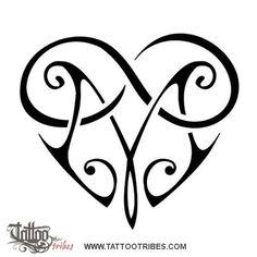 Tatuaggio di Cuore M+infinito, Legame eterno tattoo - custom tattoo designs on TattooTribes.com