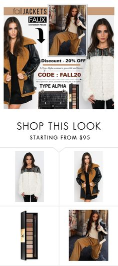 """""""Faux Fashion - Discount 20% off"""" by typealpha ❤ liked on Polyvore featuring Yves Saint Laurent and Fendi"""