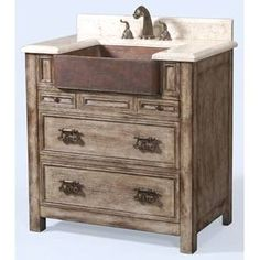 Ambella Home Collection: Bedford Ridge Sink Chest - Vintage Finish Small guest bathroom High Quality Furniture, New Furniture, Dining Room Furniture, Online Furniture, Serene Bathroom, Metal Sink, Marble Vanity Tops, Marble Top, Little Girl Rooms
