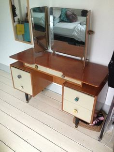 LONDON PEOPLE, I'm currently selling this beautiful 1950's vintage G PLAN, E Gomme dressing table with refurbished Anthropologie drawer knobs on Gumtree.