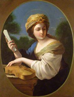 Saint Cecilia by Giovanni Francesco Romanelli ~ 1650 English School at the Cheltenham Art Gallery and Museum