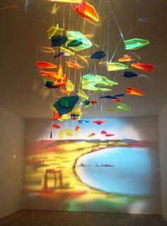 *light and shadow paintings on a wall  -Rashad Alakbarov