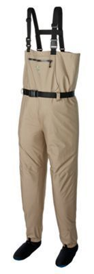 White River Fly Shop Classic Chest-High Stocking-Foot Breathable Waders for Youth - Tan - L