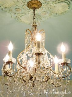 I will have this in my home, beautiful Chandelier and robbins egg paint!!