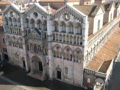 Cattedrale di San Giorgio, vista dalla Torre della Vittoria, #Ferrara