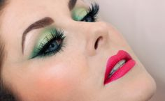 greenmakeup eyelook dramatic